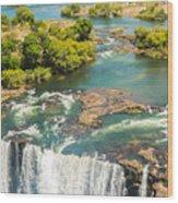 Edge Of The Falls Wood Print