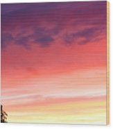 Edge Of The Forest Sunset Wood Print