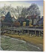 Edgemere Crt Docks Wood Print