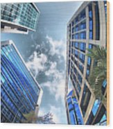 Edificios De Caracas Wood Print