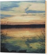 Edinboro Lake Nocturne No.3 Wood Print
