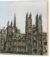 Edinburgh Architecture 3 Wood Print