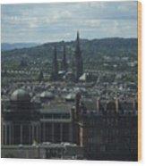 Edinburgh Castle View #9 Wood Print