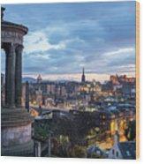Edinburgh From Calton Hill Wood Print