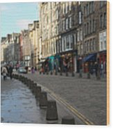 Edinburgh Royal Mile Street Wood Print