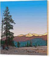 Edison Sunset Wood Print
