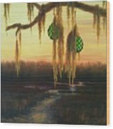 Edisto Island Glass Floats Wood Print