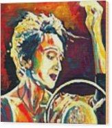 Edith Piaf- La Mome Wood Print by Vel Verrept