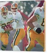 Edmonton Eskimos Football - Blake Marshall - 1988 Wood Print