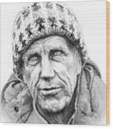 Portrait Edmund Hillary Wood Print