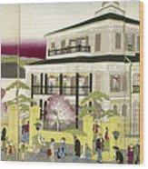 Edo: Bank, C1873 Wood Print