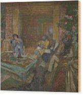 Edouard Vuillard  Sewing Party At Loctudy Wood Print