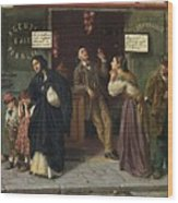 Eduardo Matania, Beim Pfandleiher 1870s Wood Print