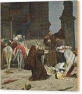 Eduardo Zamacois Y Zabala , Returning To The Monastery 1868 Wood Print