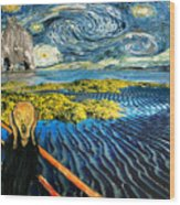 Edvard Meets Vincent Posters Wood Print
