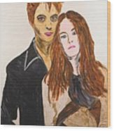 Edward And Bella Wood Print