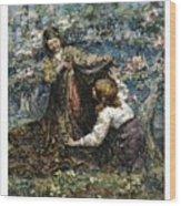 Edward Atkinson Hornel 1864 - 1933 The Butterfly Catchers Wood Print