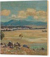 Edward Cairns Officer 1871-1921 Landscape Wood Print