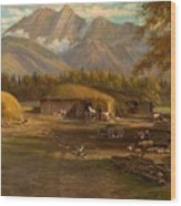 Edward Hill 1843-1923 Adamsons Ranch, Utah Wood Print