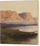Edward Lear The Rocks At Kasr Es Saad Wood Print