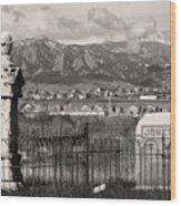 Eerie Cemetery Wood Print