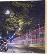 Eerie Road  Wood Print