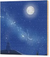 Eeyore A Lonely Night Wood Print