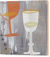 Efervescent Champagne Cups Wood Print