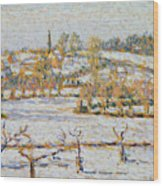 Effect Of Snow At Eragny Wood Print by Camille Pissarro
