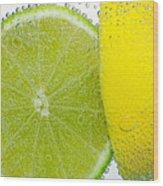 Effervescent Lime And Lemon By Kaye Menner Wood Print