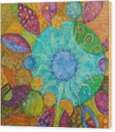 Effervescent Wood Print by Tanielle Childers