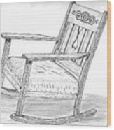 Effie's Chair Wood Print
