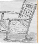 Effie's Chair Wood Print