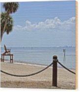 E G Simmons Park Beach Wood Print