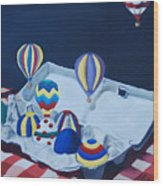 Egg Balloons Wood Print