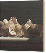 Egg With Shells No.3 Wood Print