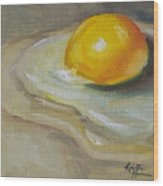 Egg Yolk No. 1 Wood Print