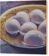 Eggs In Window Light Wood Print