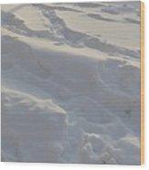 Eggwhite Snow Wood Print
