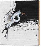 Egret 2 Wood Print