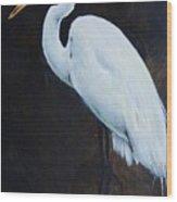 Egrets Series Four Wood Print