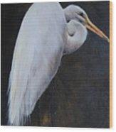 Egrets Series Three Wood Print