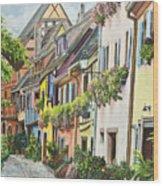 Eguisheim In Bloom Wood Print