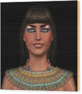 Egyian Princess Portrait Wood Print