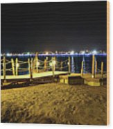 Egypt At Night Wood Print