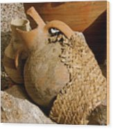 Egypt Bedouin Pots Wood Print