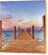 Egypt Red Sea Sunset Wood Print