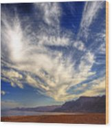 Egypt Sahara Desert Red Sea Night Sky Image Wood Print