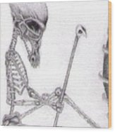 Egyptian Alien Wood Print