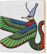 Egyptian Demon Wood Print